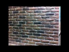 Brick Wall Creative Painting Techniques - YouTube.  FANTASTIC VIDEO ON HOW TO PAINT BRICKS!!
