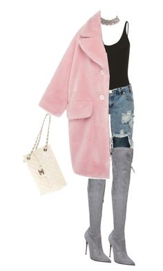 Pia Mia Vibes by deadinsidebutstillchillin on Polyvore featuring polyvore, fashion, style, VIVETTA, OneTeaspoon, Le Silla, Chanel and clothing