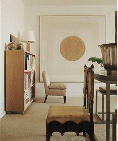 Neutral palette and oak. Designed by James Huniford. Living Room Modern, Living Room Designs, Living Room Lighting, Living Room Decor, Beige Room, Apartment Design, York Apartment, Apartment Living, Decoration