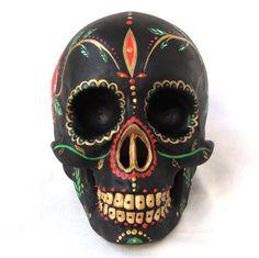 Mexican Day of the Dead Ceramic Skull Sugar by GabbieCustomArt