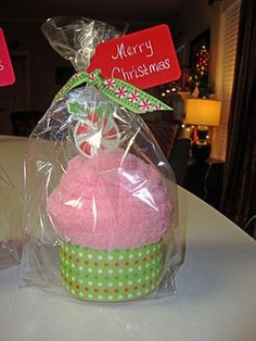 Teacher gift - sock cupcake