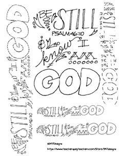 Doodle Verse Psalm 4610