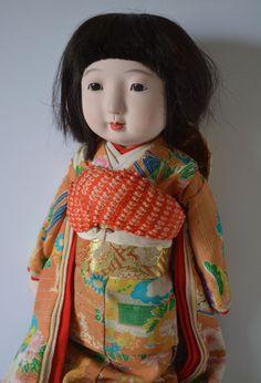 Ichimatsu doll, vintage Japanese ningyo, Taisho period