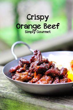Crispy Orange Beef   Simply Gourmet use coconut vinegar make it grain free