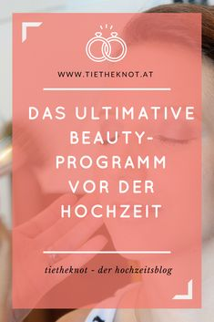 Mit unseren Tipps für das optimale Beautyprogramm vor der Hochzeit wird jede Braut vor dem Traualtar glänzen. Braut Make-up, The Best Is Yet To Come, Cosmetics, How To Make, Wedding, In Love, Wedding Day, Wedding Vows, Registry Office Wedding