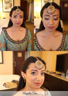 INDIAN WEDDING – SOUTH ASIAN BRIDE MAKEUP ARTIST   SHAHERVANO MAKEUP SESSION   ANGELA TAM >> INDIAN WEDDING MAKEUP AND HAIR TEAM