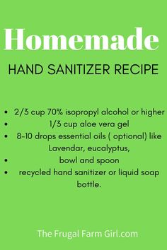 If your store is out of stock on hand sanitizer just make it yourself. Here is a simple and effective hand sanitizer recipe. d diy green tea diy ideas diy makeup diy recipes diy teen
