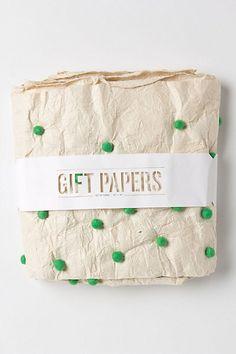Pom Pom Wrapping Paper