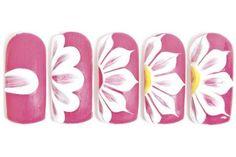 19 Diseños de Uñas de Flores - Paso a Paso - ε Diseños de Uñas Decoradas з - Sweet - Trendy Nail Art, Cool Nail Art, Nail Designs Spring, Nail Art Designs, Nails Design, Flower Nail Designs, Salon Design, Flower Nail Art, Flower Diy