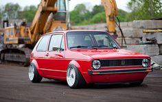 Garage Built Show Stopper Volkswagen Golf Volkswagen Volkswagen Golf Mk1, Vw Mk1, Mk1 Caddy, T2 T3, Slammed Cars, Vw Group, Golf Mk2, Vw Cars, Car In The World