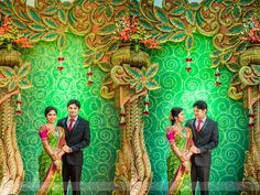 New Year, New Beginnings - A Colourful Wedding Story From Erode Reception Stage Decor, Wedding Stage Backdrop, Wedding Stage Decorations, Backdrop Decorations, Backdrops, Marriage Reception, Marriage Hall Decoration, Wedding Album Design, Wedding Banner Design