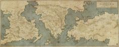 A small regional fantasy map commission done for a RPG kickstarter project. All names are placeholders. Digitally hand-drawn in Photoshop. © M.PLASSE 2014 - All rights reserved.