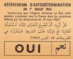This Day in History: Jul The Algerian War of Independence against the French ends. Old Egypt, Egyptian Art, Historical Pictures, Vintage Travel Posters, Archive, War, History, Books, Maurice