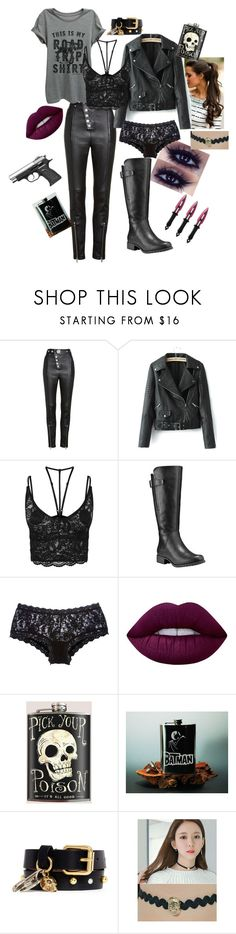 """Elevator Outfit"" by sommer-d-calabrese on Polyvore featuring Alexander Wang, Thread Tank, WithChic, Timberland, Hanky Panky, Lime Crime, Alexander McQueen and soo n soo"