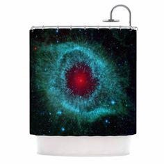 Kess InHouse Suzanne Carter 'Helix Nebula' Shower Curtain