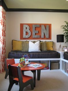 *The Hobby Lobby in Lubbock had tons of these big metal letters. Contemporary Kids by Mend