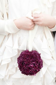 Flower Girl Pomander  Betsy Wall Photography