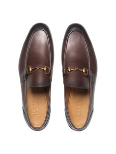 Gucci Jordaan leather loafer - Gucci Jordaan Loafer - Ideas of Gucci Jordaan Loafer - Shop the Gucci Jordaan leather loafer by Gucci. Leather loafer designed with an elongated toe and Horsebit detail. Loafers Outfit, Gucci Loafers, Loafers Men, Leather Loafers For Men, Gucci Mens Sneakers, Sneakers Mode, Sneakers Fashion, Mocassin Gucci, Gucci Jordaan Loafer