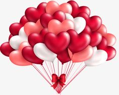 Heart-shaped balloons vector material PNG and Vector
