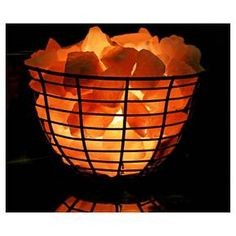 Salt Lamp Target Classy Himalayan Glow  Natural Salt Lamp Oval Basket Orange  Himalayan Design Decoration