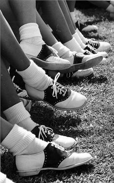 Who would like to wear those vintage saddle shoes? #TBT #Vintage #Cheerleading
