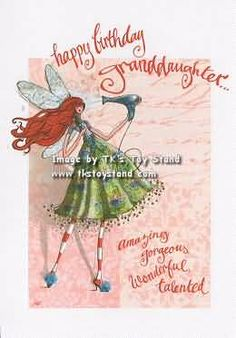 Sparkle Fairy Greeting Birthday Wishes For Granddaughter Card Sayings Quotes