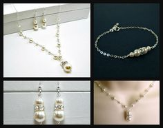 Wedding pearl jewelry set for bride by StarringYouJewelry #wedding #pearljewelry #bride