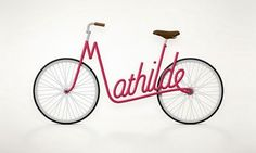 Juri Zaech's Typography Bike Frames Are Bent to Actually Spell Out Your Name. I want one with my name!!!