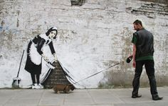 """Graffiti artist Banksy has been """"unmasked"""" as a former public schoolboy from Bristol – by a team of scientists.Researchers at Queen Mary University. Banksy Graffiti, Arte Banksy, Banksy Work, Street Art Banksy, Bansky, Banksy Artist, Banksy Canvas, Artist Art, Banksy Palestine"""