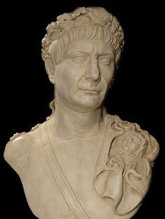 Trajan bust - Roman Emperor sculpture - Roman Emperors Collection - Roman and Etruscan - Civilization