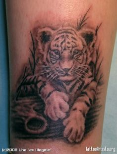 tiger tattoo portraits | Baby tiger - Tattoo Artists.org