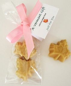 Maple Candies as Wedding Favors (Remember, Lyle really likes Maple.) Just a thought..