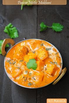 This picture is actually of Paneer Methi Makhani, but the recipe is for Butter Paneer, and it is FANTASTIC.  Instead of using evaporated milk, I used a cup of 2% milk and 1/2 cup of half-and-half.  This was every bit as good as an Indian restaurant.   Will absolutely repeat. JGH