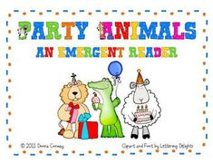Kindergarten and first grade students can strengthen their emergent reading and writing skills with these cute party animals. This book contains a repetitive text pattern and cute clip art to engage young readers. Two versions are included in this download:A.