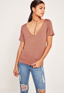 Missguided - Harness Detail T Shirt Pink