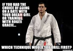 Dream date or BJJ. Fight humor In my case it would be dream guy but ya know lol