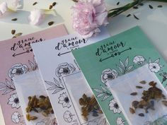 Creations, How To Plan, Design, Seed Packets, Wedding Thanks, Love, Cards, Design Comics