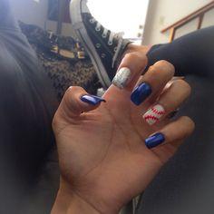 It's baseball season !  had to dedicate the nails to my boys in blue this time ! #dodgers #nails #LA #boysinblue #baseballnails