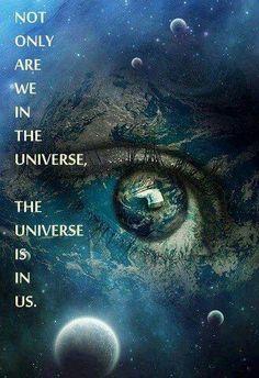 somos um sopro de universo! Somos maiores que o mundo, por isso desde a antiguidade olhávamos as estrelas, pois sabemos que somos feitos do que as faz brilhar!