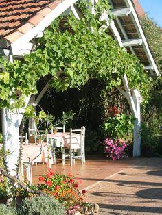 Terrasse La Salvetat Logis Hotel Dordogne by aubergedelasalvetat, via Flickr