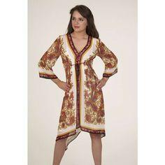 DIY Scarf Dress | Rubber Ducky Chiffon Scarf Kimono Dress in Ivory