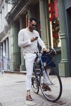 men in white pants...
