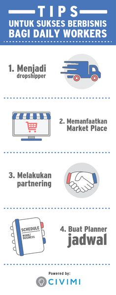 4 Tips Sukses Berbisnis bagi Daily Workers (Infographic)