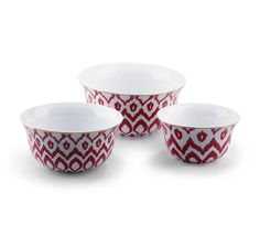 NEED this ikat nesting bowls and matching dinner ware from C. Wonder. These nesting bowls are $58.