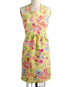 Take a look at this Yellow Calypso Apron - Women by April Cornell on #zulily today! $13.99