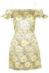 Floral Frill Bardot Dress