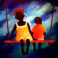 Adrian Gomez, gran pintor costarricense, inspirado en la gente del caribe.