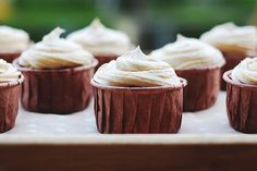 Pumpkin Spice Cupcakes with Chai Frosting
