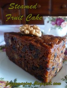 Another must-have Hari Raya delicacy for many houses is Steamed Fruit Cake. There are a few versions of the recipe but I& usin. Cupcakes, Cupcake Cakes, Fruit Cakes, Carrot Cakes, Food Cakes, Cake Cookies, Cake Recipes, Dessert Recipes, Desserts