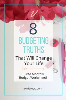 8 Budgeting Tips that will change your life. If you follow this personal finance advice, you're wallet will never be the same again. Plus a freebie!